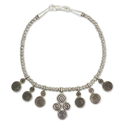 Handmade Thai Karen Hill Tribe Silver Charm Bracelet