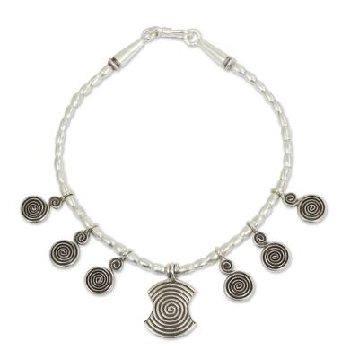 Handcrafted Thai Hill Tribe Silver 950 Charm Bracelet