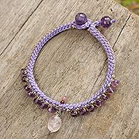 Amethyst beaded bracelet,