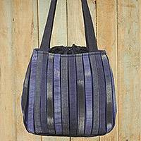 Cotton shoulder bag Orient Blue Thailand