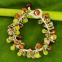 Carnelian beaded bracelet,