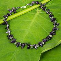 Amethyst And Ruby Zoisite Necklace Vineyard Garland (thailand)