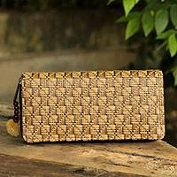Paper and cotton wallet Gingham Thailand