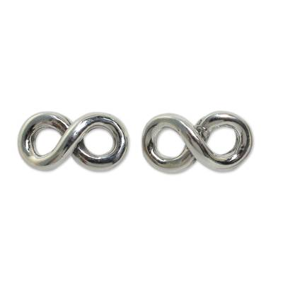 Fair Trade Infinity Symbol Earrings in 925 Sterling Silver