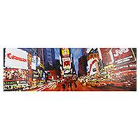 'In the City l' (2014) - Original Contemporary Cityscape Painting from Thailand