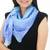 Silk scarf, 'Blue Plaid' - Thai Blue and Green Square 100% Silk Hand Dyed Scarf (image 2b) thumbail