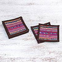 Featured review for Cotton coasters, Lahu Dark Brown (set of 6)