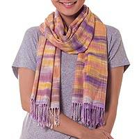 Hand woven scarf,