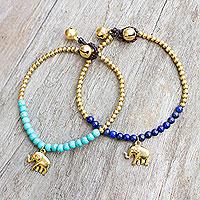 Lapis lazuli beaded bracelets,
