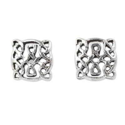 Artisan Crafted Petite Celtic Knot Silver Earrings