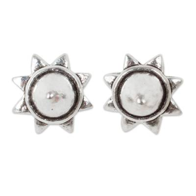 Acorn Theme Fair Trade Silver Stud Earrings