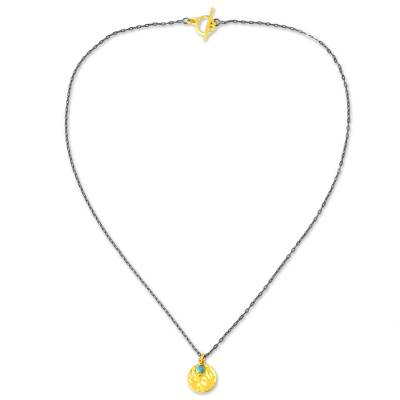 Thailand Artisan Crafted 24k Gold Plated Calcite Necklace
