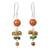 Agate and quartz dangle earrings, 'Jingle' - Thai Handcrafted Sterling Silver and Gemstone Earrings (image 2a) thumbail