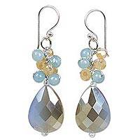 Featured review for Beaded dangle earrings, Winter Thaw