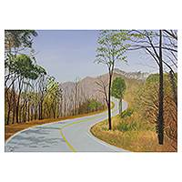 'Forest in Winter lll' - Signed Acrylic Original Artwork of Thai Forest Road