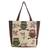 Cotton blend tote bag, 'Playful Owls' (large) - Forest Owls Cotton Blend Tote Bag in White and Brown (Large) (image 2a) thumbail