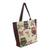 Cotton blend tote bag, 'Playful Owls' (large) - Forest Owls Cotton Blend Tote Bag in White and Brown (Large) (image 2b) thumbail