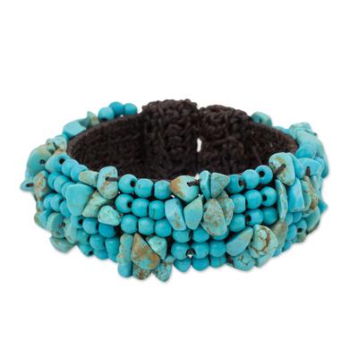 Artisan Crafted Calcite Beaded Stretch Bracelet Thailand