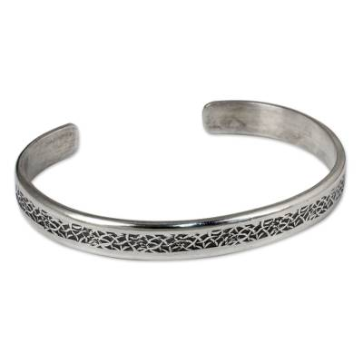 Thailand Sterling Silver Free Trade Cuff Bracelet