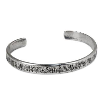 Free Trade Cuff Bracelet Sterling Silver from Thailand