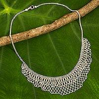 Sterling silver collar necklace,