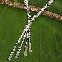 Sterling silver necklace, 'Ballroom Glamour' - Fair Trade Sterling Silver 925 Statement Necklace