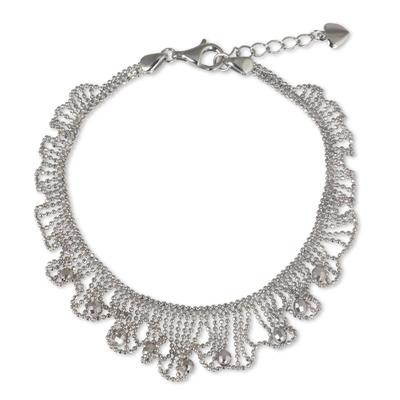 Handmade Artisan Designed Sterling Silver Bracelet