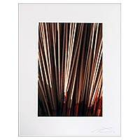 'Drying Incense' - Signed and Matted Color Photograph of Drying Incense