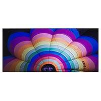 'Color' - Colorful Signed Photograph of Hot Air Balloon in Thailand