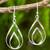 Sterling silver dangle earrings, 'Lotus Flame' - Polished Sterling 925 Fair Trade Floral Earrings thumbail
