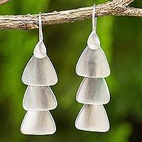 Sterling Silver Chandelier Earrings Fan Cascade (thailand)