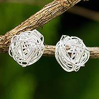 Featured review for Sterling silver stud earrings, Free Line
