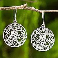 Sterling silver dangle earrings, 'Daisy Garden'