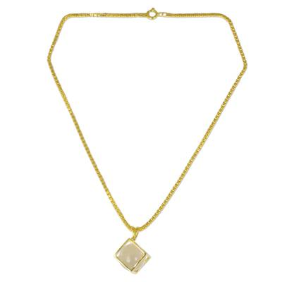 Gold Plated Crystalline Quartz Artisan Crafted Necklace