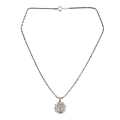 Thai Sterling Silver Necklace with Crystalline Quartz