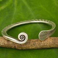 Featured review for Silver cuff bracelet, Fern Wrap