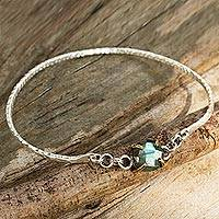 Labradorite bangle bracelet,