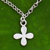 Sterling silver pendant anklet,