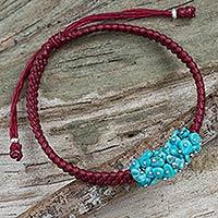 Beaded cord bracelet,