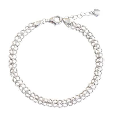 Artisan Crafted Sterling Silver Chain Bracelet from Thailand