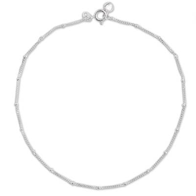 Sterling Silver Station Anklet from Thailand
