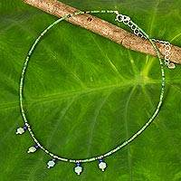 Featured review for Multi-gemstone beaded necklace, Green Essence