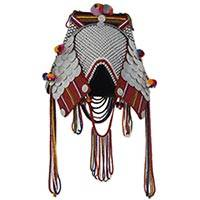 Beaded Akha headdress, 'Akha Bride' - Artisan Crafted Bridal Headdress from Akha Hill Tribe