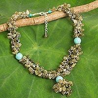 Labradorite beaded necklace,