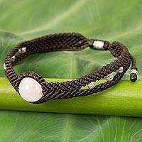 Rose quartz braided bracelet,