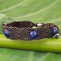 Lapis lazuli braided bracelet,