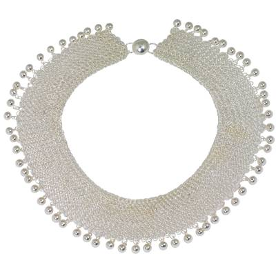 Thailand High Polish Sterling Silver Layered Collar Necklace
