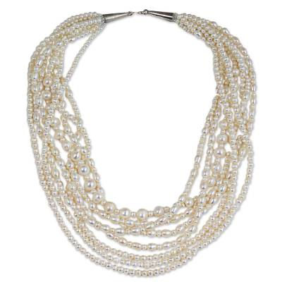 Artisan Crafted Cultured Pearl Strand Necklace from Thailand