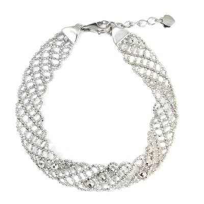 Sterling Silver Five-Strand Braid Bracelet