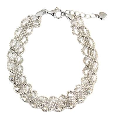 Sterling Silver Five-Strand Braided Ball Chain Bracelet